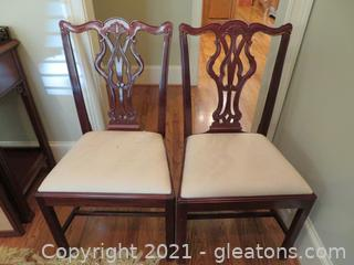 Intricately Detailed Dining Room Side Chairs (2)