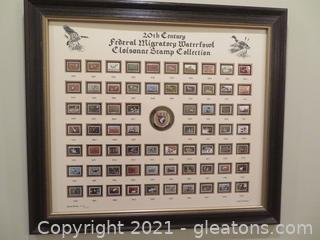 20th Century Federal Migratory Waterfowl Cloissone Stamp Collection