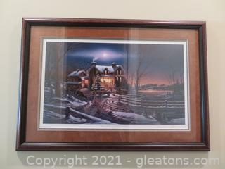 """Terry Redlin """"And Crown Thy Good with Brotherhood"""" Numbered, Signed Print"""