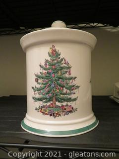 Spode Christmas Covered Canister (A)
