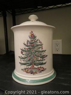 Spode Christmas Covered Canister (B)