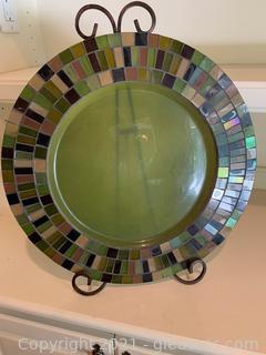 Pretty Decorative Plate W/ Stand