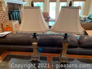 Pair of Accent Table Lamps (Lot of 2)