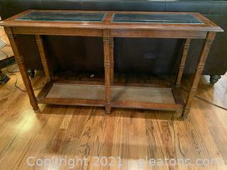 Wood & Glass Console Table