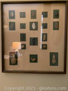 Very Cool Framed Arrowheads in Shadow Box Frame