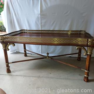 Gorgeous Drexel Heritage Lillian August Cocktail Table