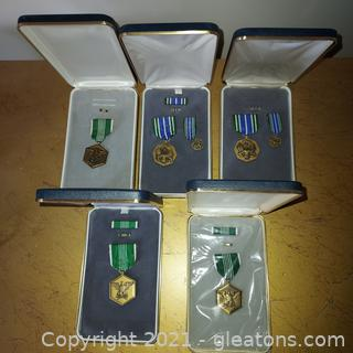 Lot of Military Achievement Medals- 5 Sets