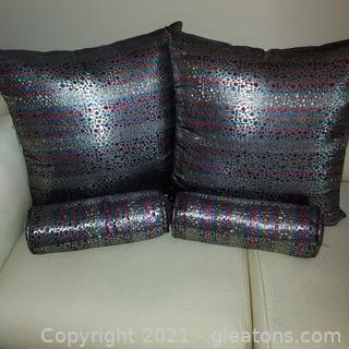 Colorful Collection of Glitz Accent Pillows