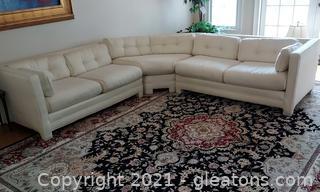 Beautiful Cream Colored 3 Piece Sectional Sofa