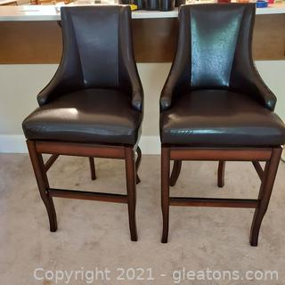 Pair of Sturdy and Comfortable Counter Stools
