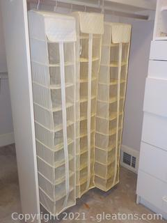 Set of 3 Hanging Closet Shoe Storage Bags