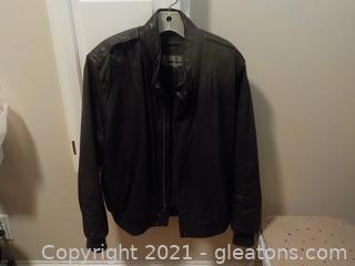 Men's Black Leather Jacket, Size 42, by Wear Me Out