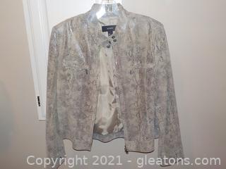 Ladies Leather Waist Length Jacket by Alfari