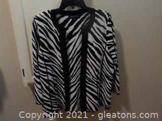 Ladies Zebra Print Sweater by Jones, New York , Signature