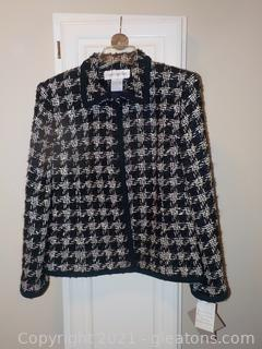 Beautiful Wood and Mohair Lined Jacket by Jones New York  New with Tags