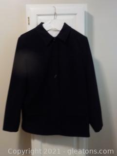 Soft, Black , Waist Length Ladies Jacket by Talbots