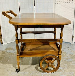 Matchless Maple Rolling Tea Cart