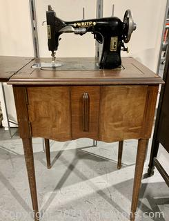 White Rotary #15 Sewing Machine Table