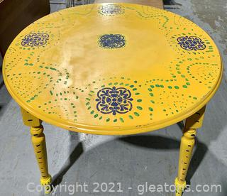 Stenciled Cottage Round Table