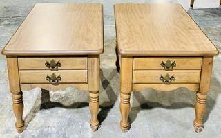 A Pair of Traditional Side Tables