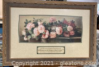 Appealing Floral Scripture Print