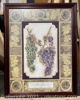 """""""Harvest Grapes"""" Scripture Framed Print"""