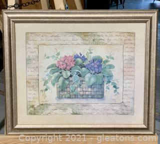 Precious Floral Lord's Prayer Print