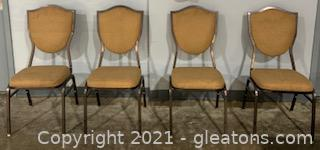 Camo Mid Century Stackable Conference Chairs (4)