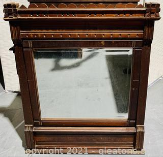 Timeless Walnut Tilting Mirror