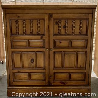 Knotty Pine Dutch 2 Door Cupboard