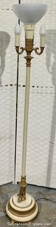 Cream Candle Torchiere Floor Lamp