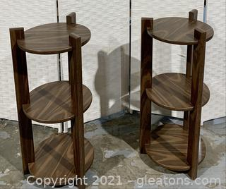 A Pair of 3 Tier Plant Stands