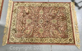 Asian Inspired Small Fringed Rug