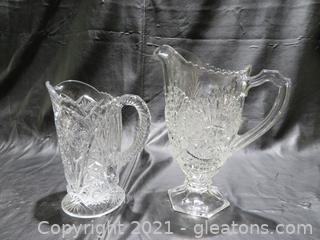 Lovely Glass Pitchers (2)