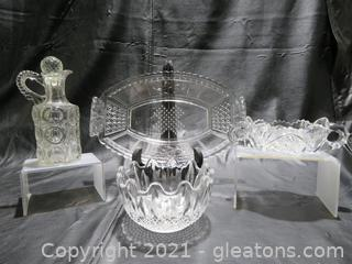 Beautiful Cut Glass Pieces (4)