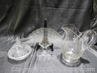 Gorgeous Cut Glass Pieces (3)