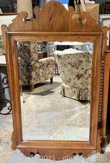 Beautiful Beveled Chippendale Mirror