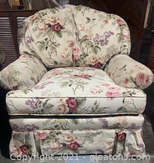 Floral Bouquet Chintz Chair