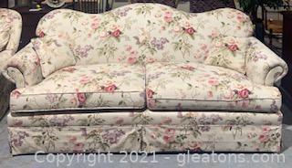 Floral Bouquet Camelback Chintz Sofa