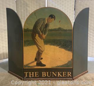 """The Bunker"" Golf Scene Fireplace Accessory"