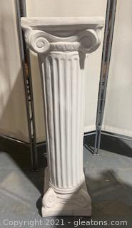 White Decorative Pedestal I