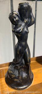Heavy Statue of Woman Carrying Water