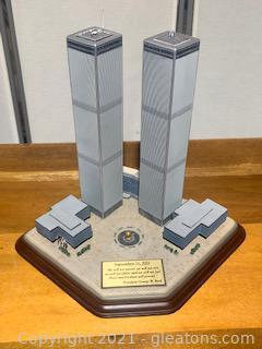 Danbury Mint Twin Towers Commemorative