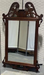 Mahogany Beveled Chippendale Mirror