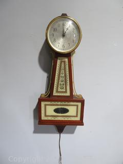 Handsome Seth Thomas Banjo Wall Clock