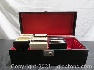 Classic Eight Track Tapes and Carry Case