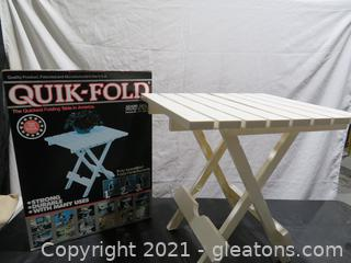 Two Quick Fold White Tables