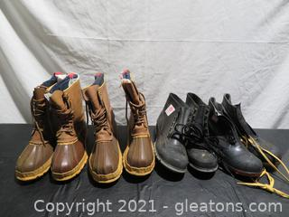 Four Steel Toed Boots