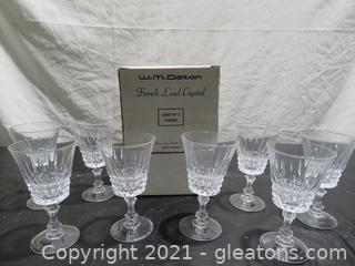 W.M. Dalton French Lead Crystal Wine Glasses (8)
