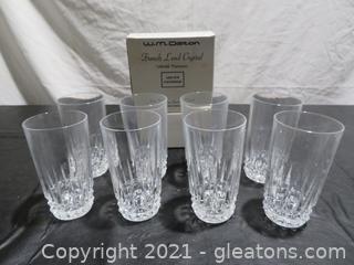 W.M. Dalton French Lead Crystal Beverage Glasses (8)